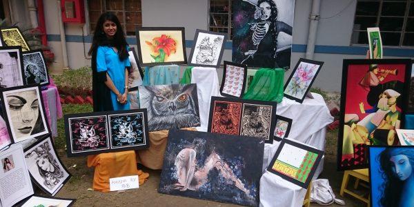 Art Mela – ein Stand auf der jährlichen Kunstmesse der MHS