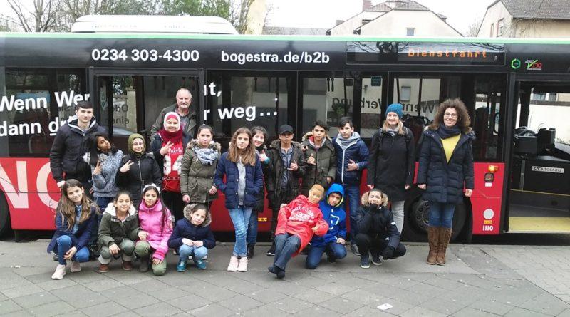 Die IFÖ-Klassen in der Bogestra-Bus-Schule