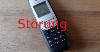 Störung der Telefonanlage